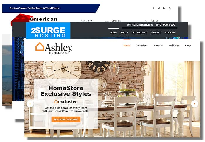 3 Web Design Examples From 2Surge Marketing